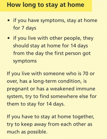 Coronavirus advice 2